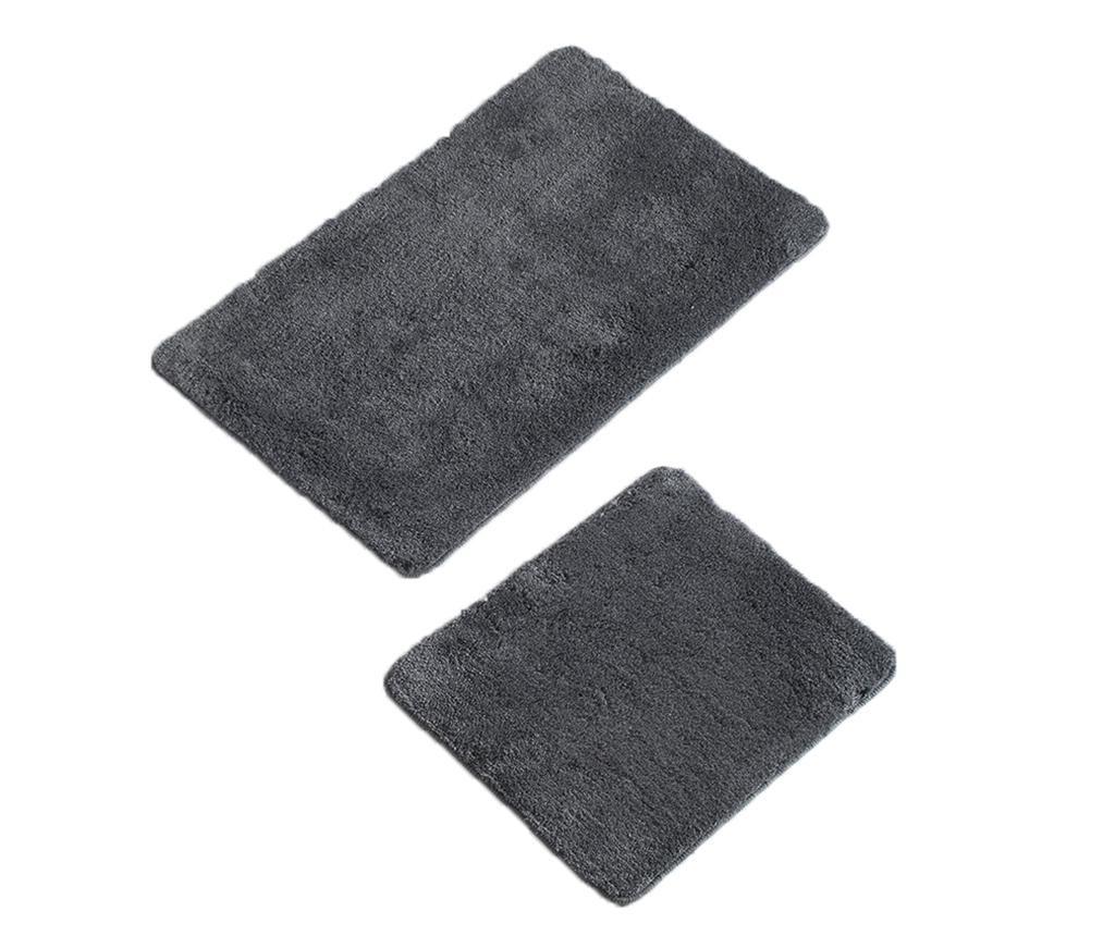 Plain Anthracite 2 db Fürdőszobai szőnyeg