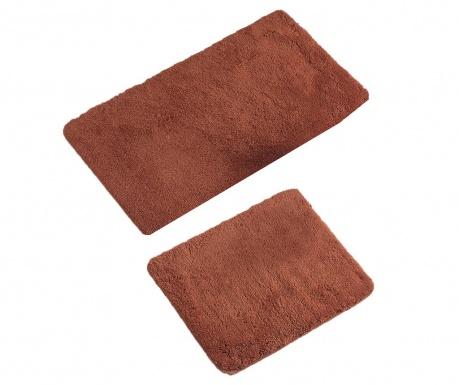Σετ 2 χαλάκια μπάνιου Plain Brick Red