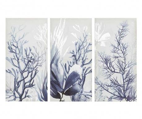 Zestaw 3 obrazów Corales 30x60 cm