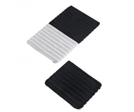 Σετ 2 χαλάκια μπάνιου Soft Black