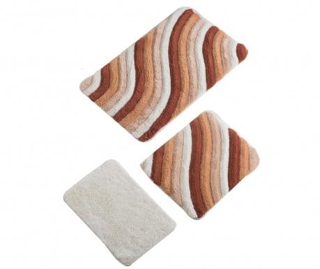 Σετ 3 χαλάκια μπάνιου Hans Salmon