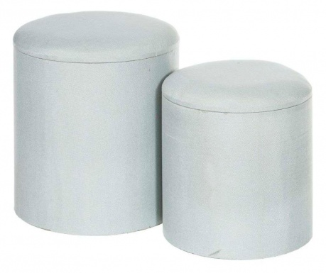Set 2 taburejev Tomasa Basic Grey