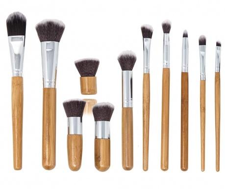 Σετ 11 πινέλα για μακιγιάζ και θήκη Bamboo Eco