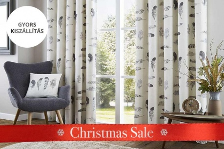 Christmas Sale: Függönyök és sötétítők