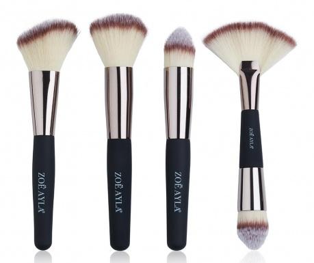 Σετ 4 πινέλα μακιγιάζ Professional Soft Touch Cream