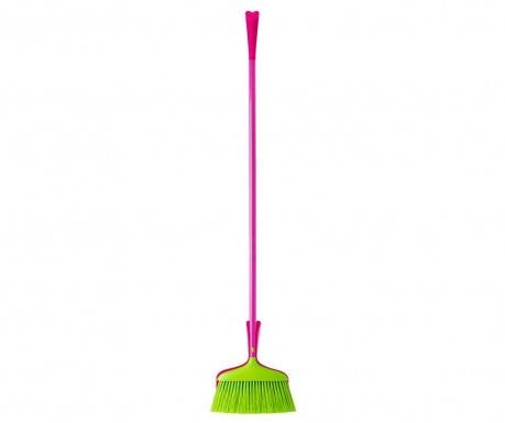 Set - metla in smetišnica Arp Green and Pink