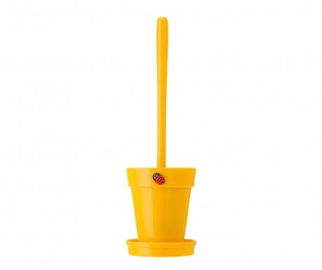 Toaletna krtača z držalom Flower Power Yellow