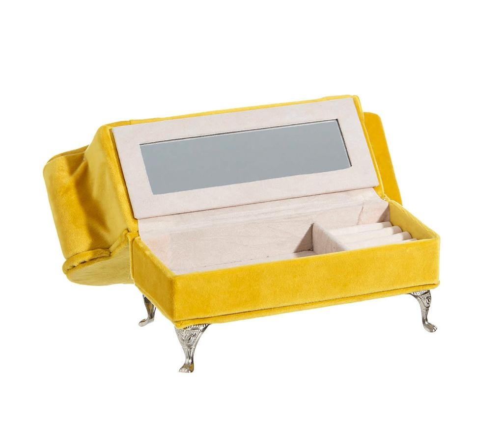 Škatla za nakit Gabriel Yellow