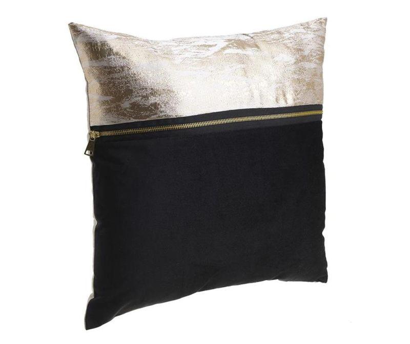 Perna decorativa David Cream Black 40x40 cm