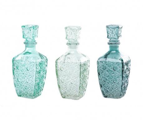 Zestaw 3 butelek dekoracyjnych z zatyczką Sophia