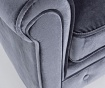 Fotelj Chesterfield Velvet Grey