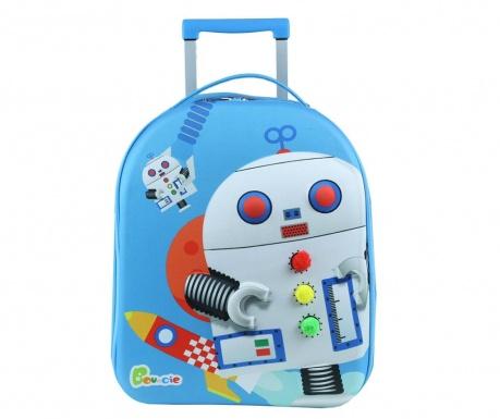 Walizka dziecięca na kółkach Robot 20 L