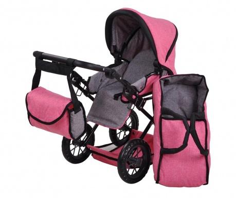Wózek dla lalek Ruby Pink