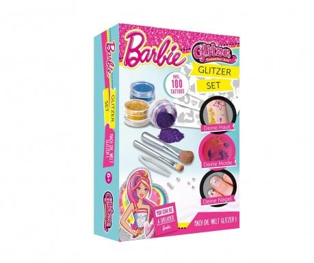 Zestaw do tatuażu z brokatem 14 elementów Barbie