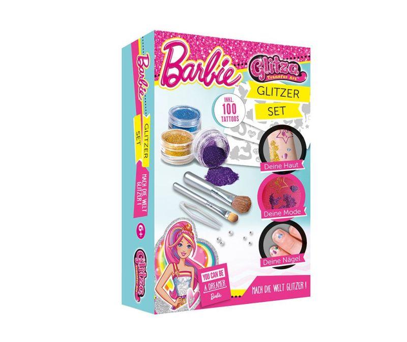 Set 14 tatujev z bleščicami Barbie