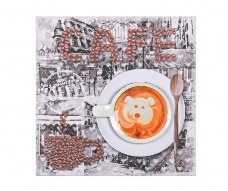 Obraz Bear Cafe 40x40 cm