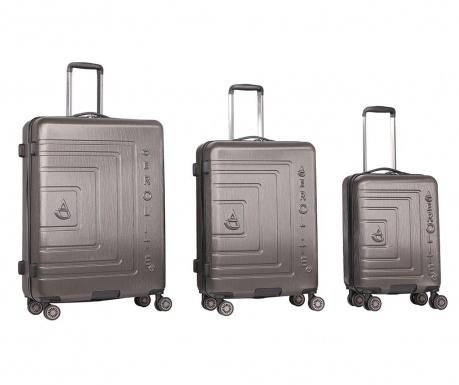 Sada 3 cestovních kufrů na kolečkách Matrix Charcoal