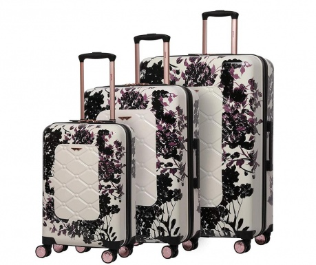 Sada 3 cestovních kufrů na kolečkách Varnia Black Rose
