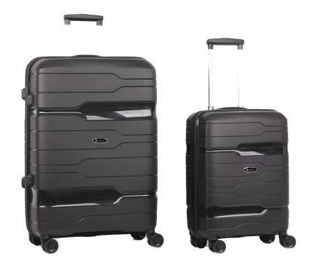 Sada 2 cestovních kufrů na kolečkách Circuit Black