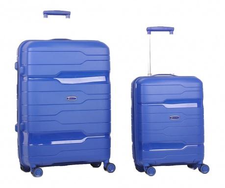 Sada 2 cestovních kufrů na kolečkách Circuit Navy