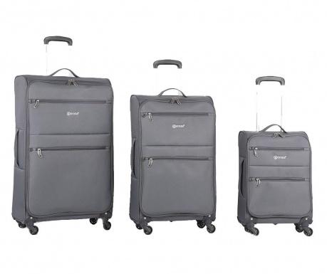 Sada 3 cestovních kufrů na kolečkách Algarve Grey