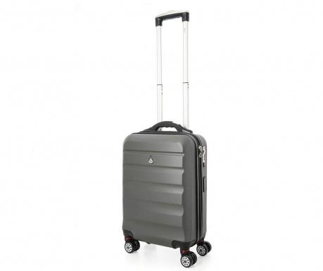 Cestovní kufr na kolečkách s USB portem Elevator Smart Charcoal