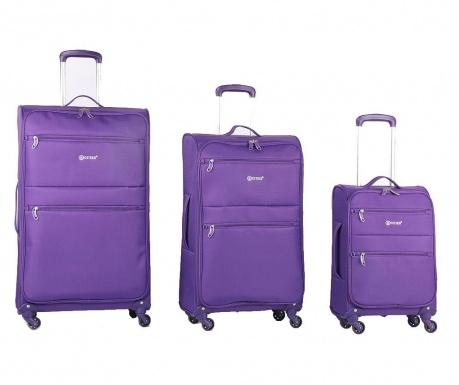 Sada 3 cestovních kufrů na kolečkách Algarve Purple