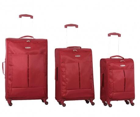 Sada 3 cestovních kufrů na kolečkách Ultralight Wine
