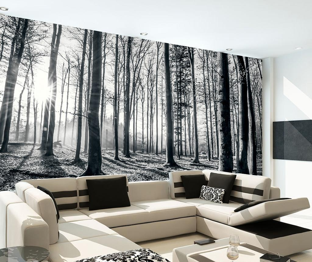 Black and White Forest Tapéta 232x315 cm