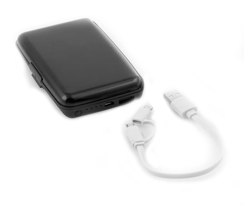 Držalo za kartice s prenosno baterijo za pametni telefon InnovaGoods Security