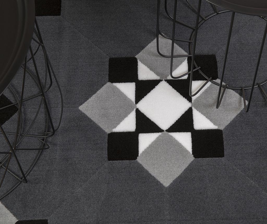 Covor Norik Black Grey 80x150 cm