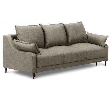 Ancolie Taupe Háromszemélyes kihúzható kanapé