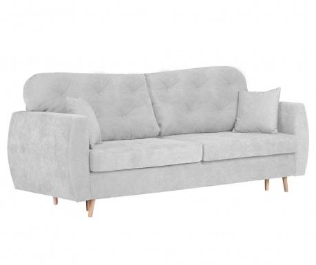 Orchid Silver Háromszemélyes kihúzható kanapé