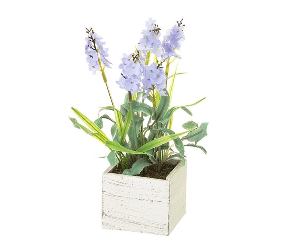 Sztuczna roślina w doniczce Lavander Square Blue