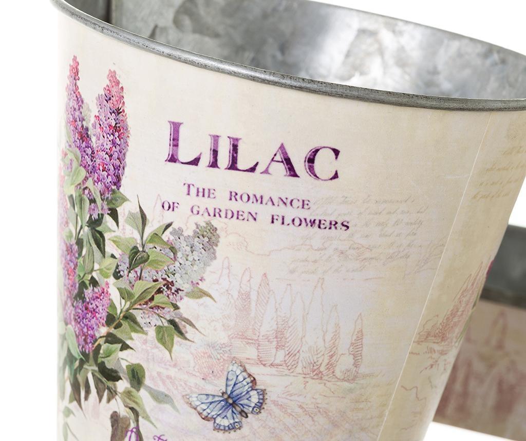 Set 2 ghivece cu suport Lilac