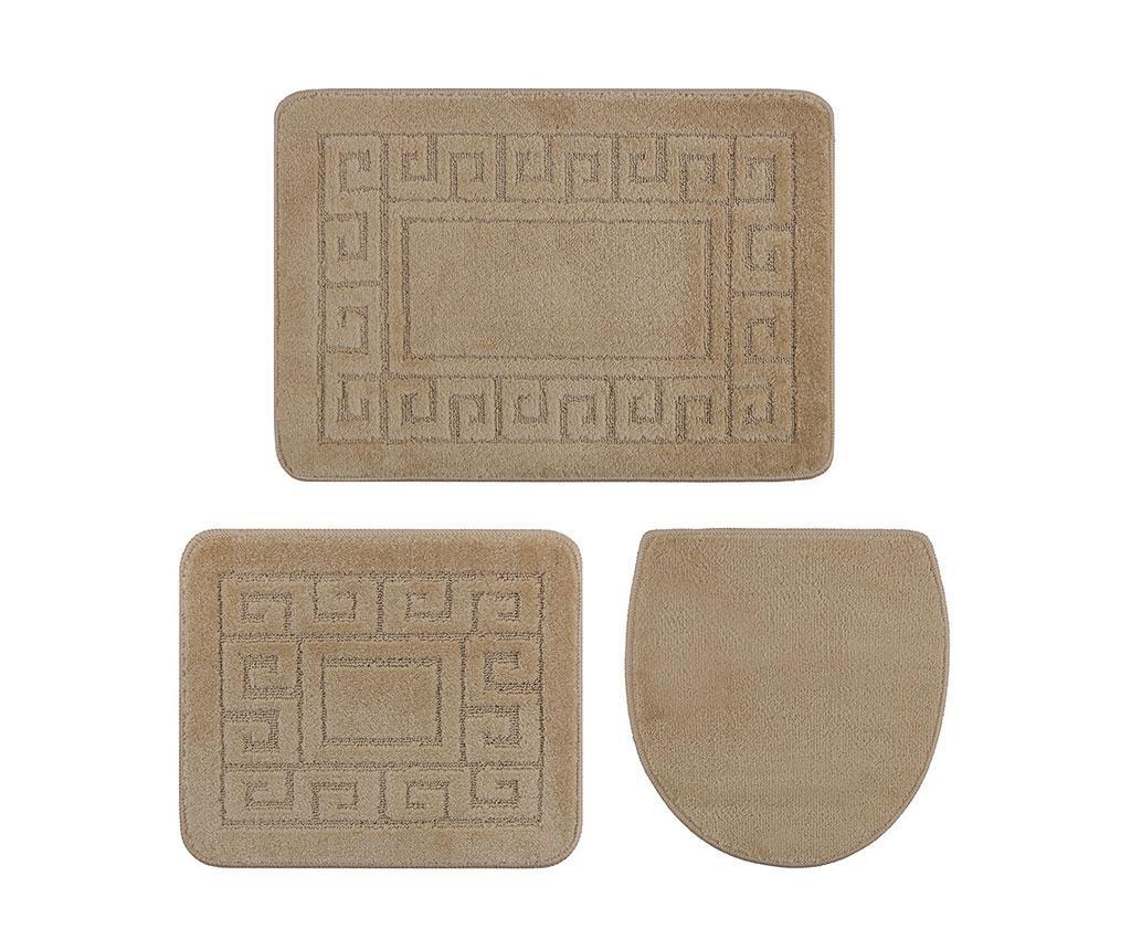 Set 3 kupaonska tepiha Ethnic Bone