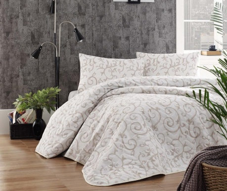 Merle Cream Kétszemélyes steppelt ágytakaró garnitúra