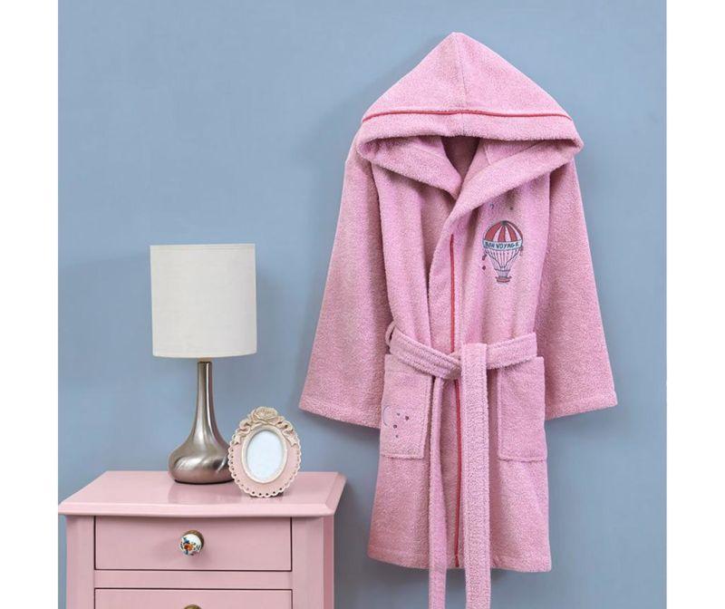 Dječji kupaonski ogrtač Montgo Pink 3-4 ani