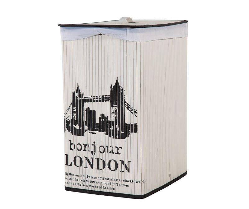Koš za perilo s pokrovom London