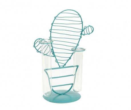 Διακοσμητικό με βάζο Cactus Double Blue