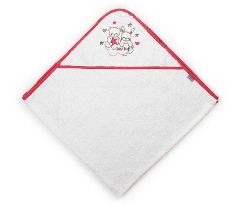 Кърпа за баня с качулка Friends Red Strip 100x100 см