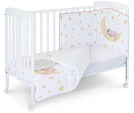 Set - otroška posteljica in dodatki Marlon Night Pink