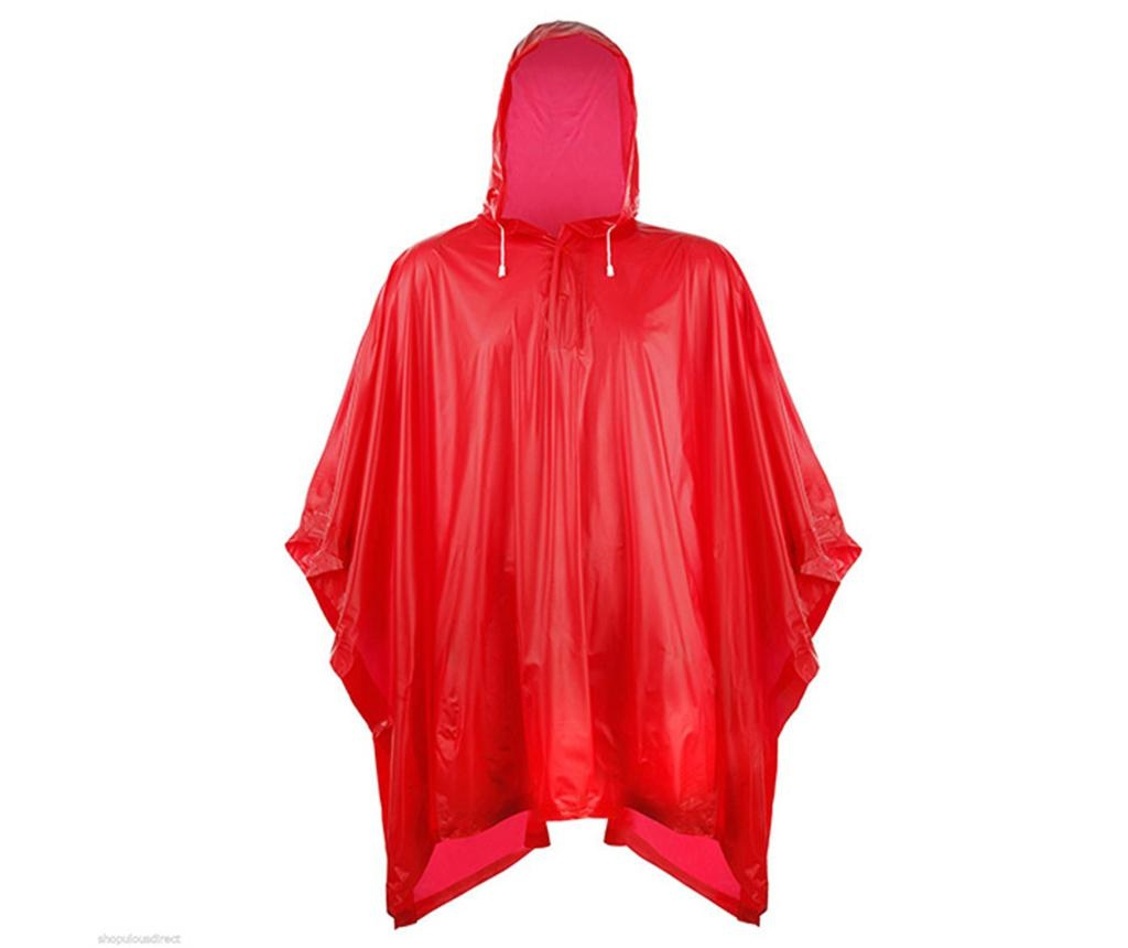 Pelerina de ploaie unisex Falconetti Rain Lover Red
