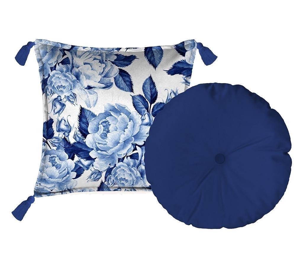 Set 2 perne decorative Blue Flowers