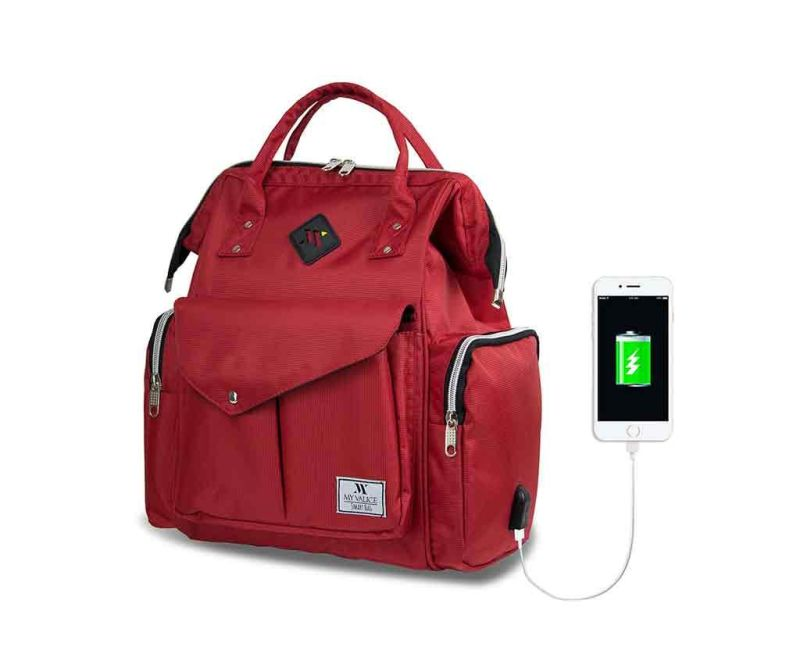 Geanta pentru scutece USB Barry Red