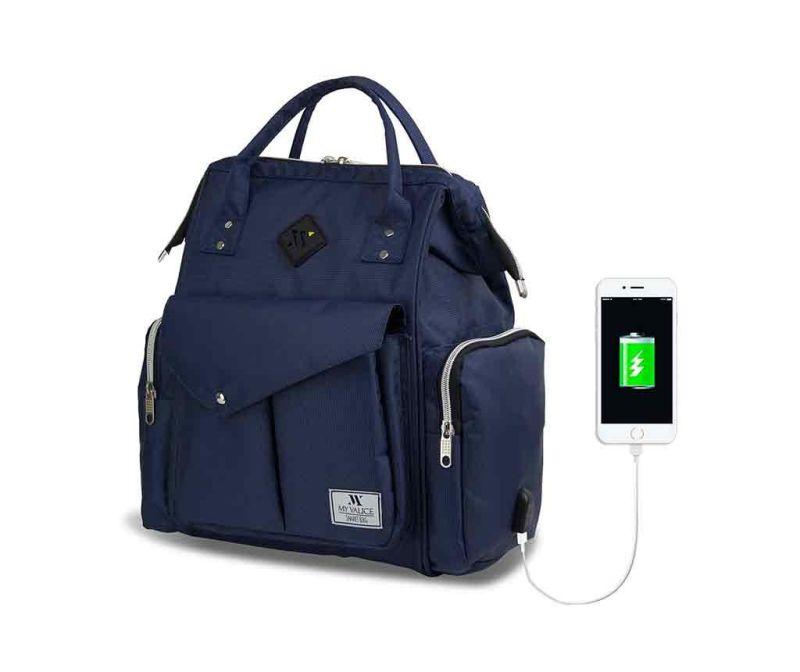 Torba za pelene USB Barry Dark Blue