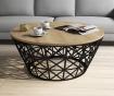 Stolić za kavu Stil Metal Ferforje  Oak