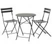 Set masa si 2 scaune pentru exterior Rico Black