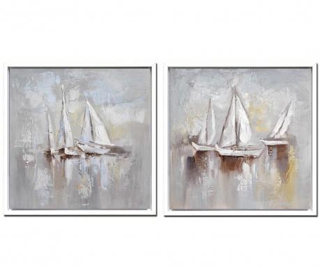 Set 2 tablouri Sail 105x105 cm