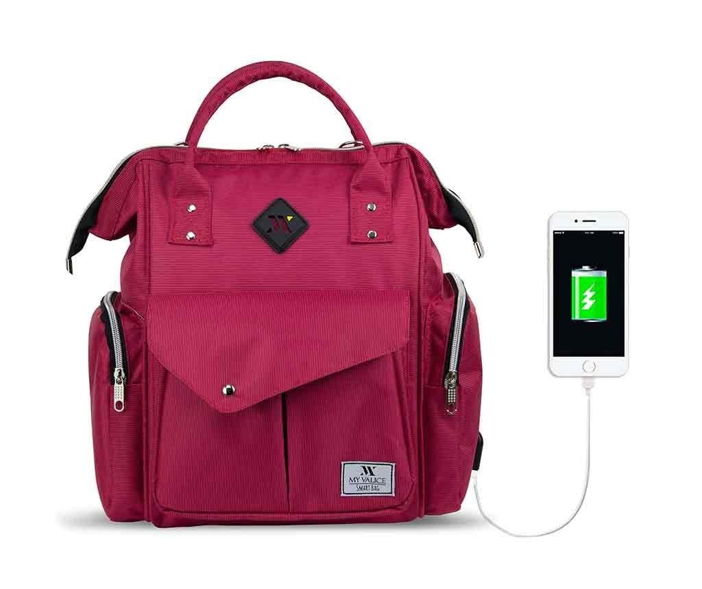 Torba za pelene USB Barry Pink